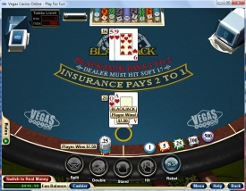 Play Blackjack at Vegas Casino Online